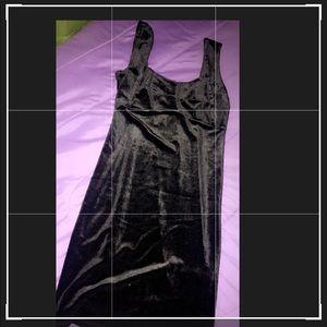 A velvet black dress